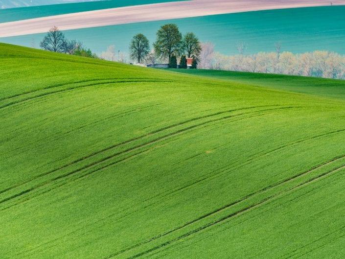landscape photo, Moravia, Czech Republic, hill, field