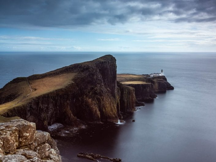 landscape Neist Point, Isle of Sky, scotland, long exposure, cliffs, lighthouse, sea