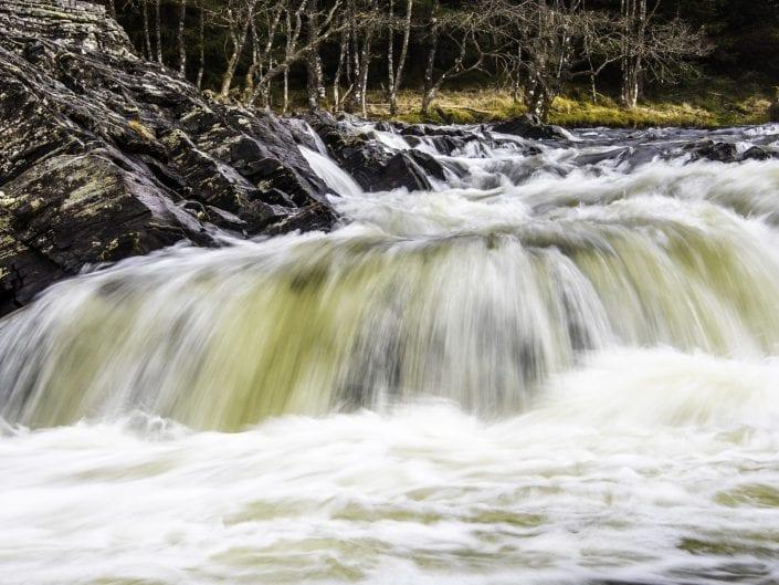 landscape, fall, river, glenochy, scotland