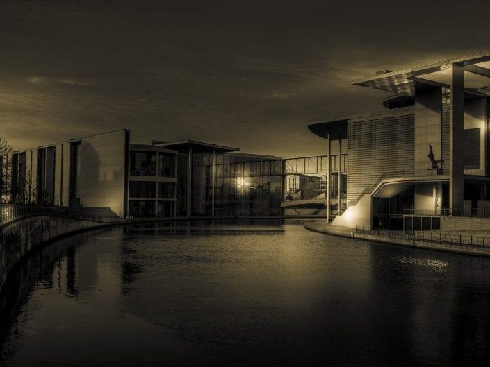 berlin night Germany balck and white architecture