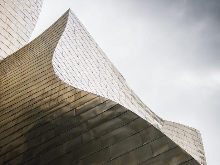 Bilbao, Spain, Guggenheim museum, architecture photo, curves, travel tourism