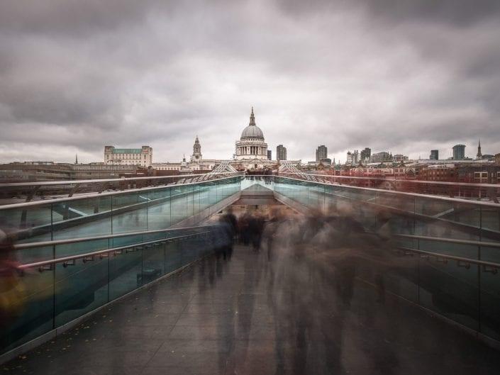 London millenium bridge architecture photo long exposure, cityscape, travel photography