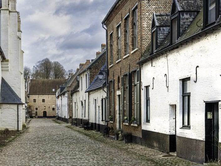 view of the Beguinage in Diest Belgium