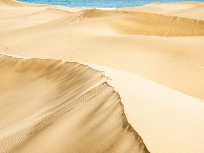 desert landscape on Gran Canaria, dunes Mas Palomas, sand, sahara, sea