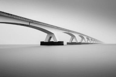 minimalist waterscape zeeland bridge netherlands preview