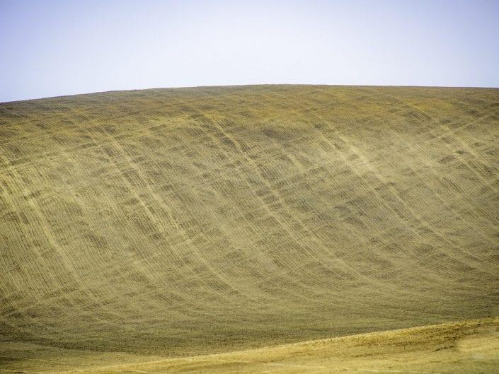 criss-cross pattern on a plowed field in Moravia, Czech Republik