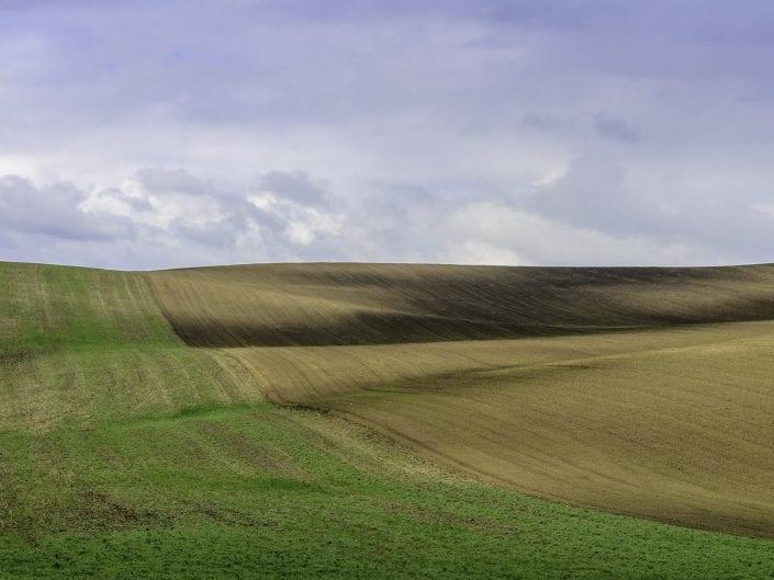 plowed field in Moravia
