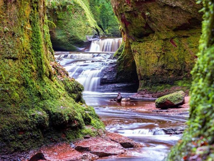 Scotland, devils pulpit, canyon, river landscape, Finnich Glen