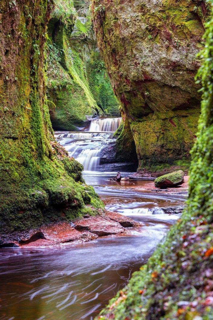 Devil's Pulpit, Finnich Glen, Scotland, river canyon, gorge