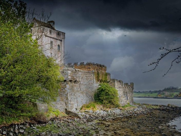 Doe castle creeslough Ireland castle rain sky