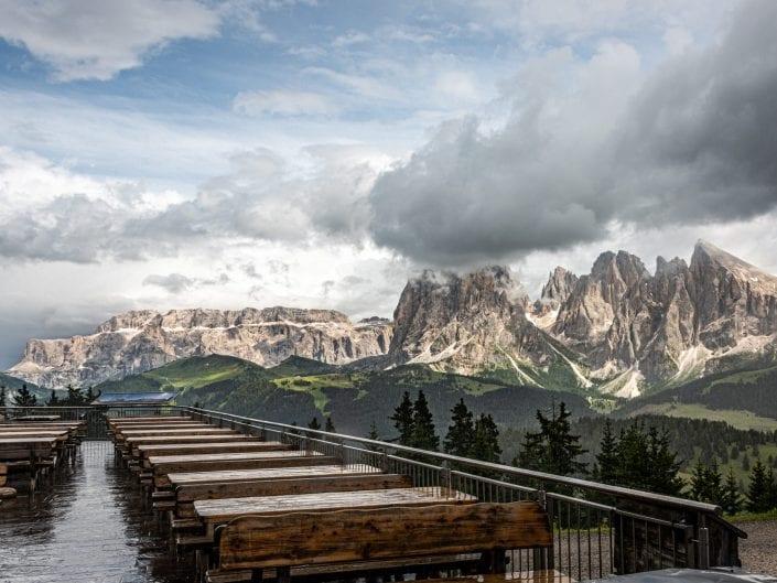 dolomites alpi di suisi terracce urtisei