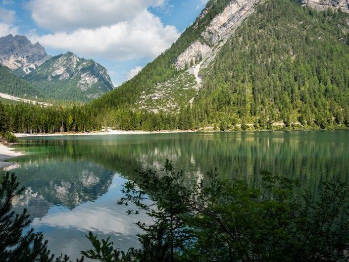 dolomites lago di braies back reflection
