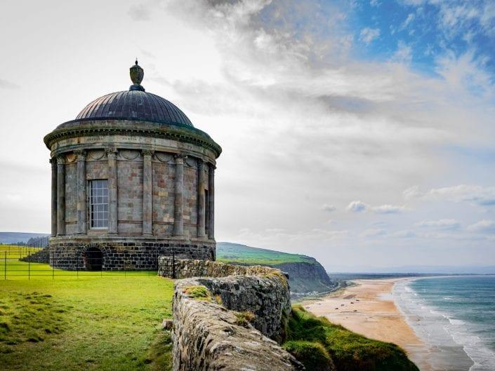 Mussenden temple Coleraine northern Ireland beach ocean cliffs