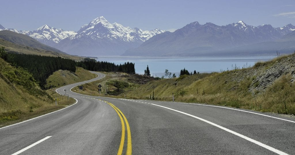 S-shape lead-in lines landscape New-Zealand