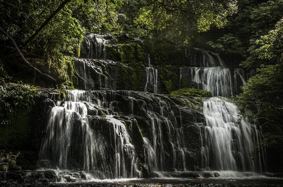 waterscape photography waterfall new zealand