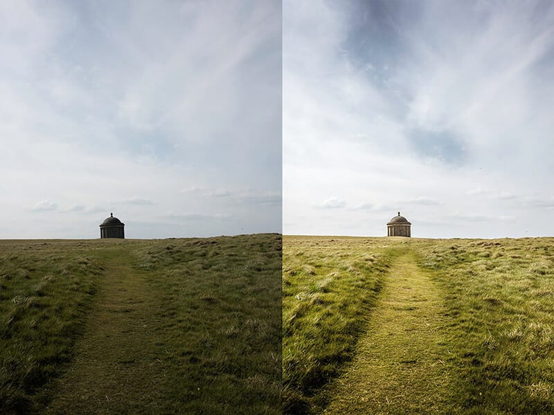 With and Without graduated filter ND3