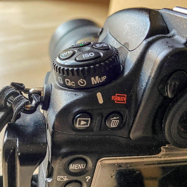 Mirror lock up function - Nikon